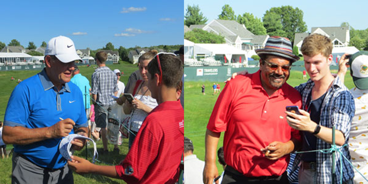 Geno Auriemma, George Lopez at 2015 Travelers Celebrity Pro-Am