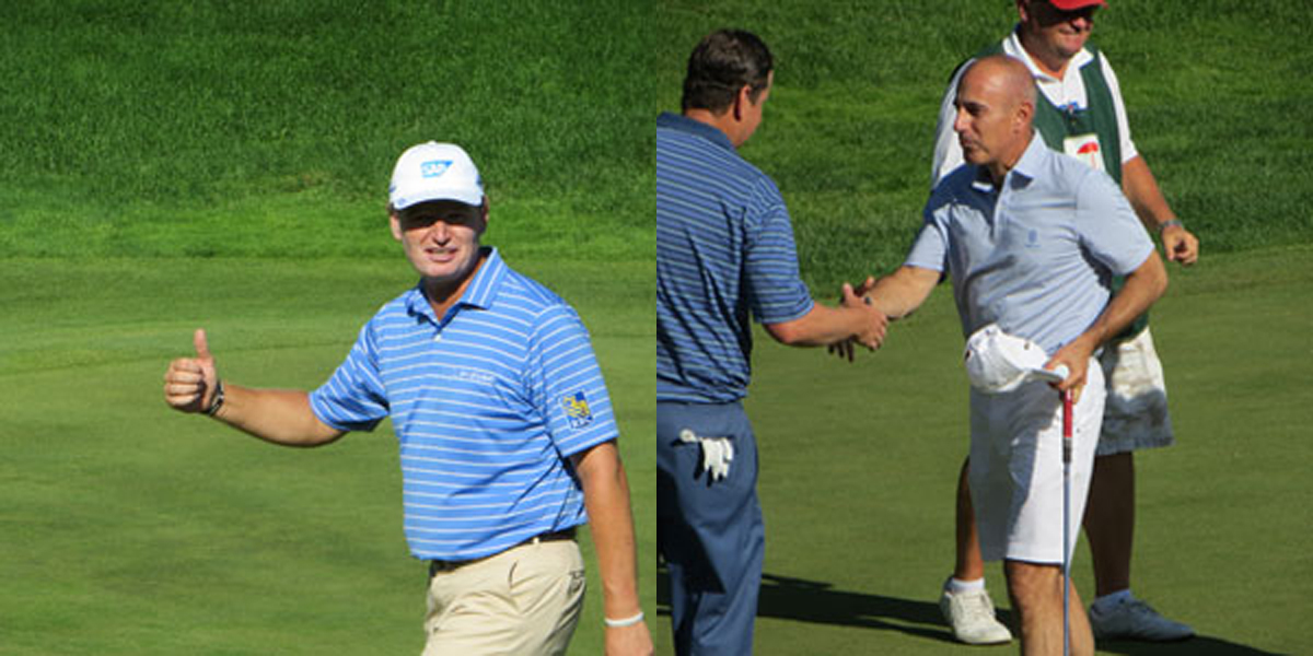 Ernie Els, Matt Lauer at 2015 Travelers Celebrity Pro-Am